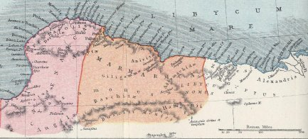 Map of Cyrenaica and Marmarica in the Roman era (Author: Samuel Butler, 1907) ... The photo is taekn from ... https://commons.wikimedia.org/wiki/File:Cyrenaica_Marmarica.jpg