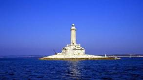 The Beauty of Lighthouse and Deep Blue ... Porer Lighthouse-Istria-Pula ... Photo taken from ... https://www.timeout.com/croatia/blog/croatias-ten-best-lighthouses-061916