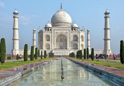 Taj Mahal, Agra, India - Credit ... Makalu ... The photo is taken from ... https://pixabay.com/en/india-agra-taj-mahal-mausoleum-3578009/