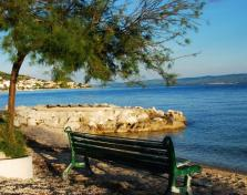 The bench on the beach in Podstrana just in the shade of some evergreen tree. It is very likely Lucius Artorius Castus used such one bench on his property after being retired.