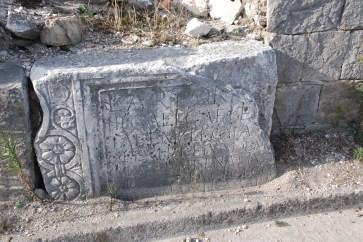 Stone slab with inscription, part of the sarcofagus of Lucius Artorius Castus, Photo credit ... https://www.petrus.sk/ ...
