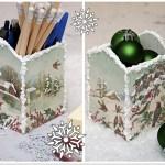 Karácsonyi írószertartó