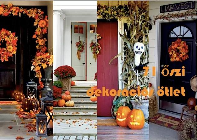 71 őszi dekorációs ötlet - Bejárati ajtó és környéke
