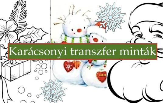Weihnachtsmuster für Transfertechnik VI.