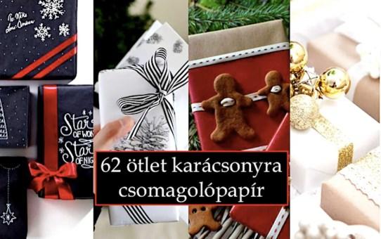 62 ötlet karácsonyra - csomagolópapír