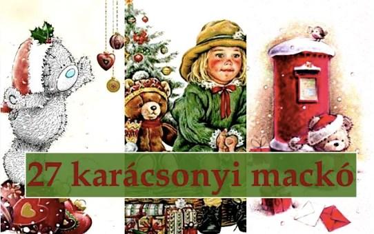 27 karácsonyi mackó