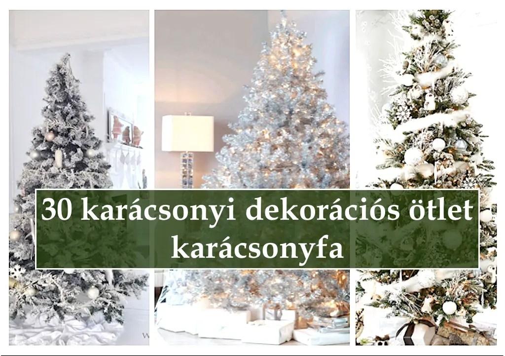 30 karácsonyi dekorációs ötlet - karácsonyfa