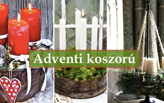 102 karácsonyi dekorációs ötlet – adventi koszorú