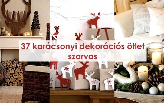 37 karácsonyi dekorációs ötlet - szarvas