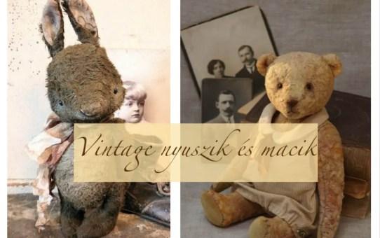 Vintage nyuszik és macik