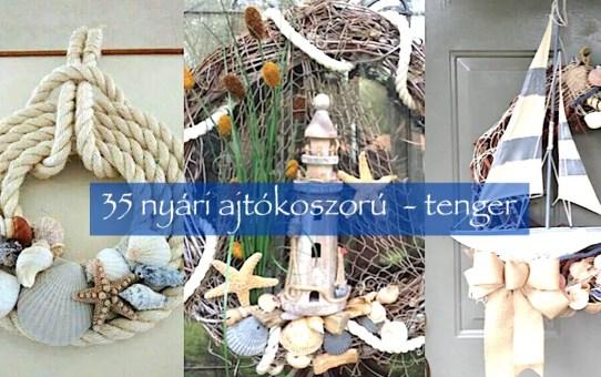 35 nyári ajtókoszorú - tenger