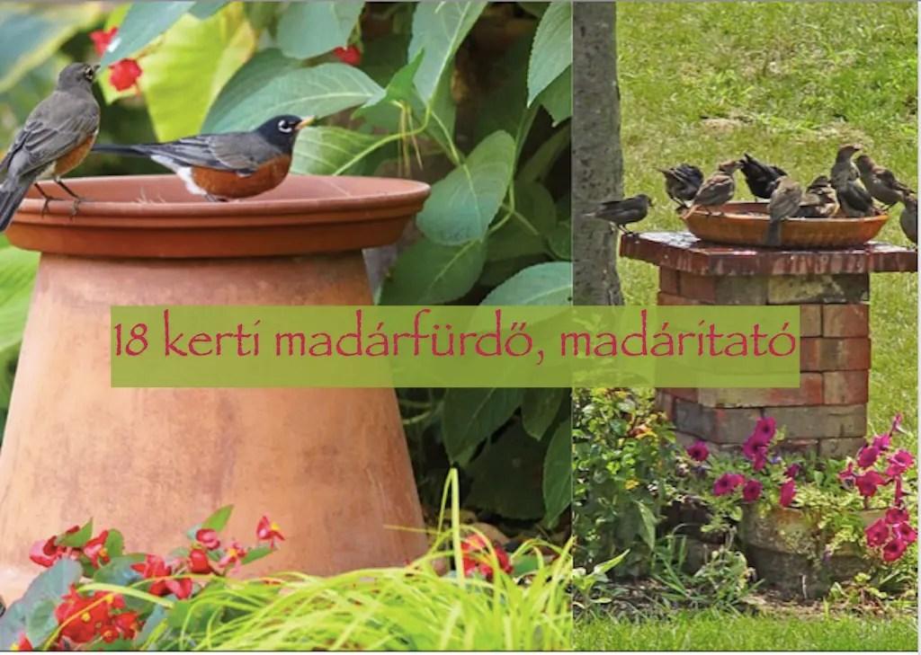 18 kerti madárfürdő és madáritató