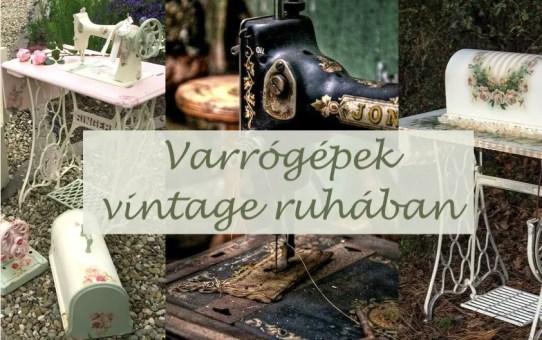 Varrógépek vintage ruhában