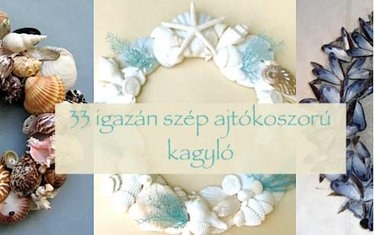 33 igazán szép ajtókoszorú - kagyló