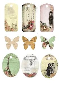 Vintage ajándék kísérők