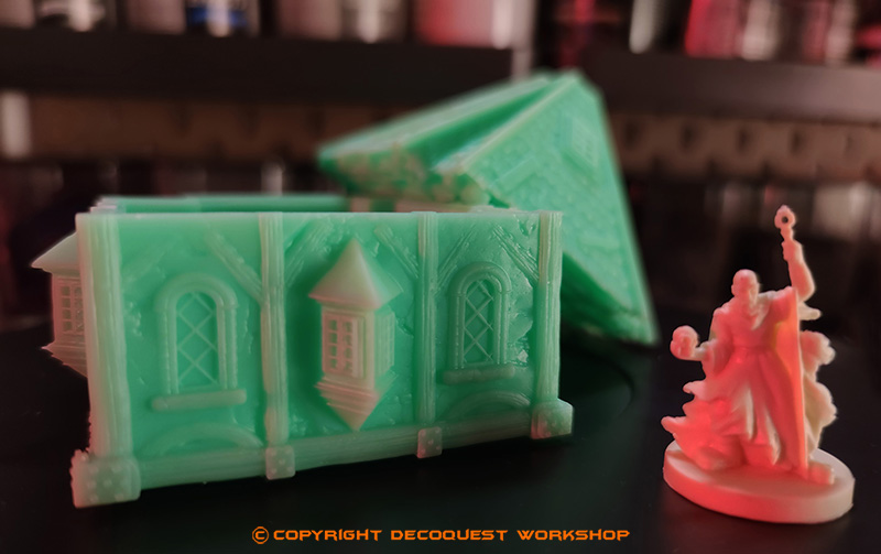 Décors imprimé en résine pour le jeu de figurines