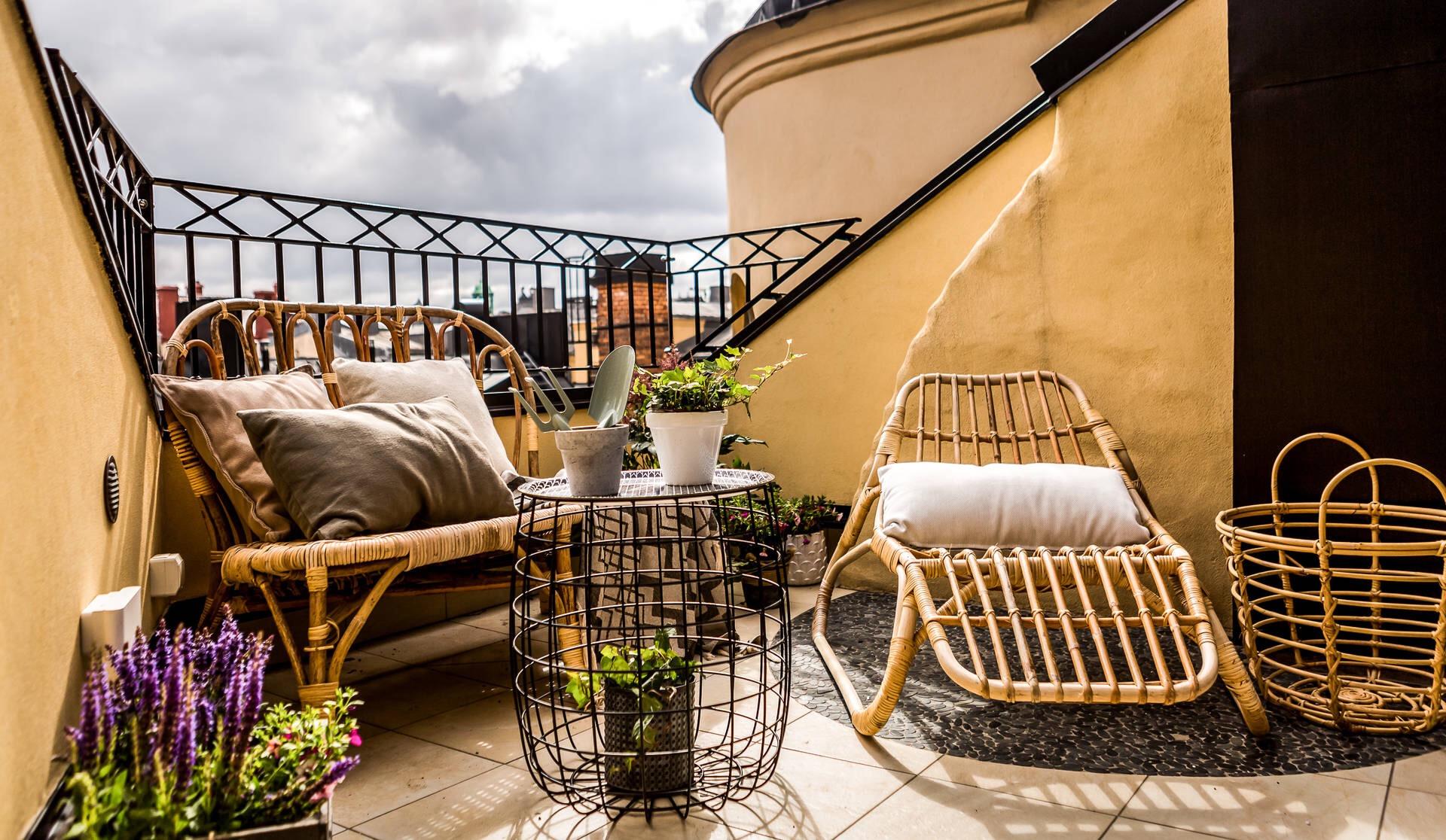 мансарда балкон