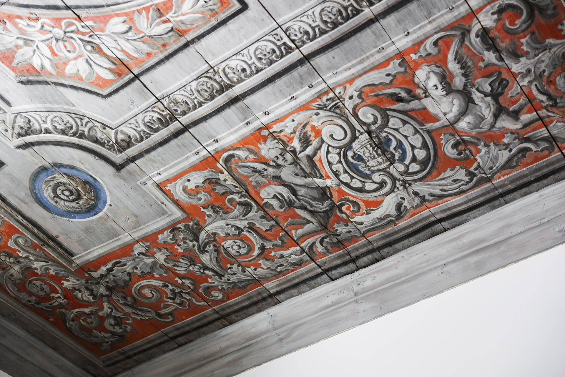 потолок роспись