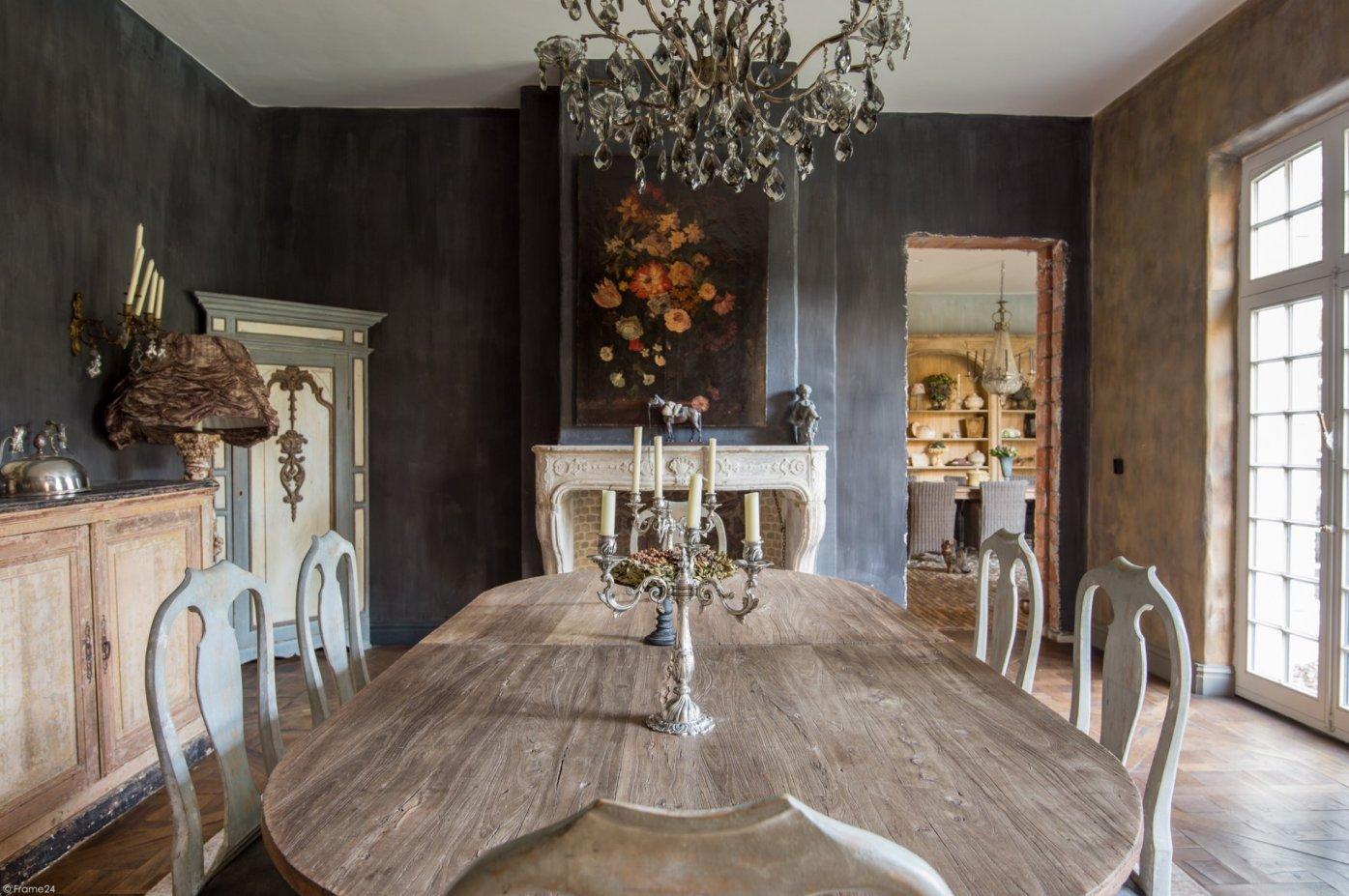деревянный стол камин портал