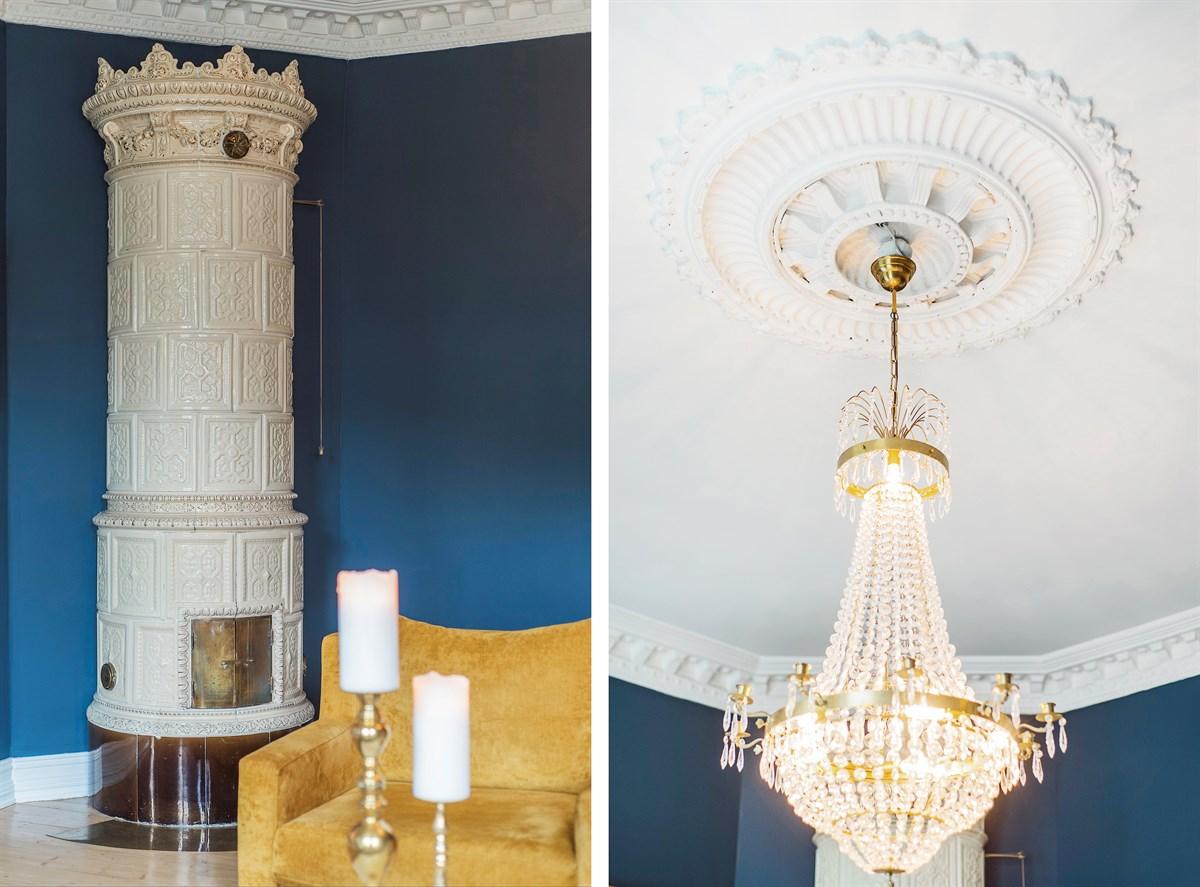 печь керамика  люстра потолок лепнина