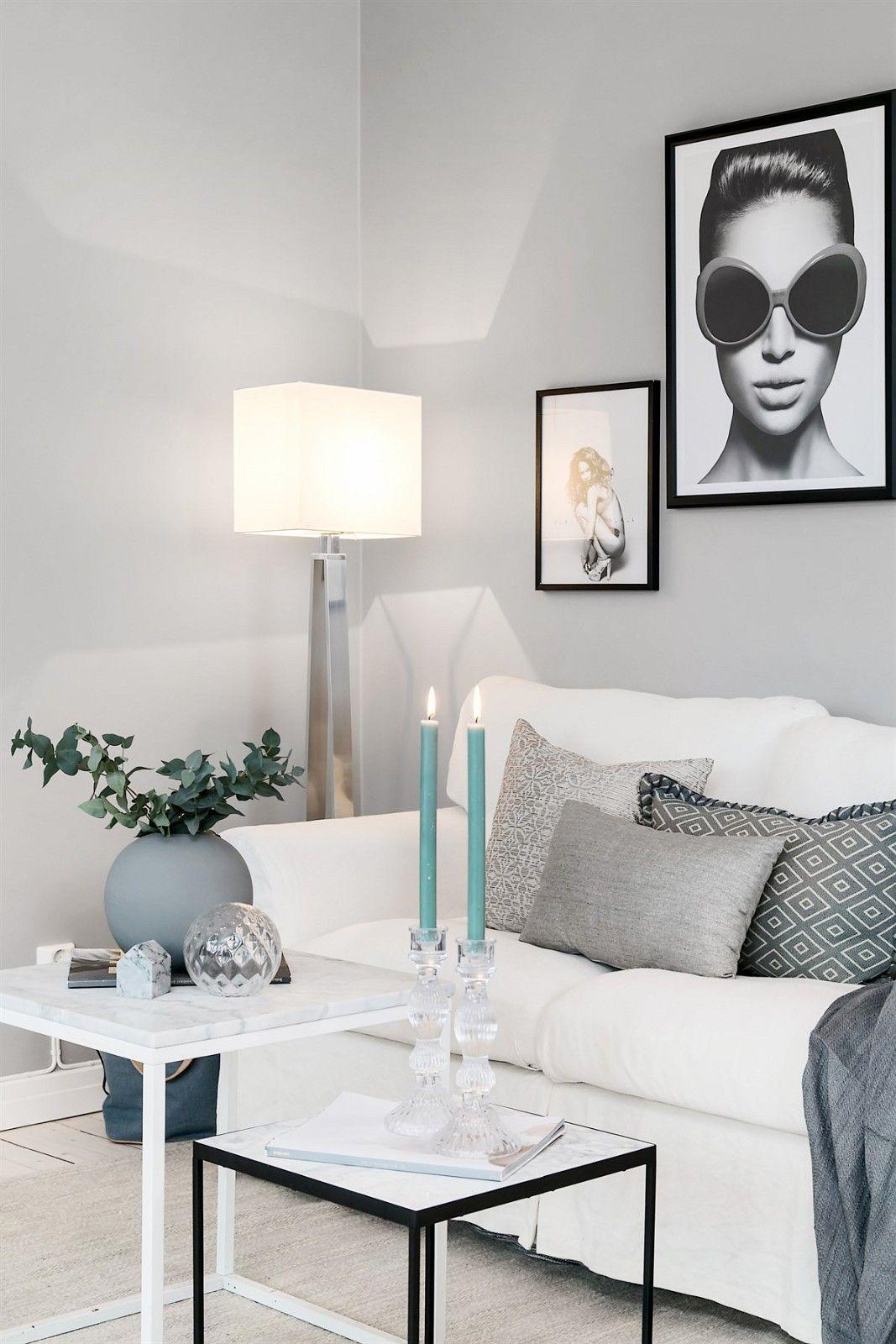 диван столик вазы свечи  напольная лампа торшер