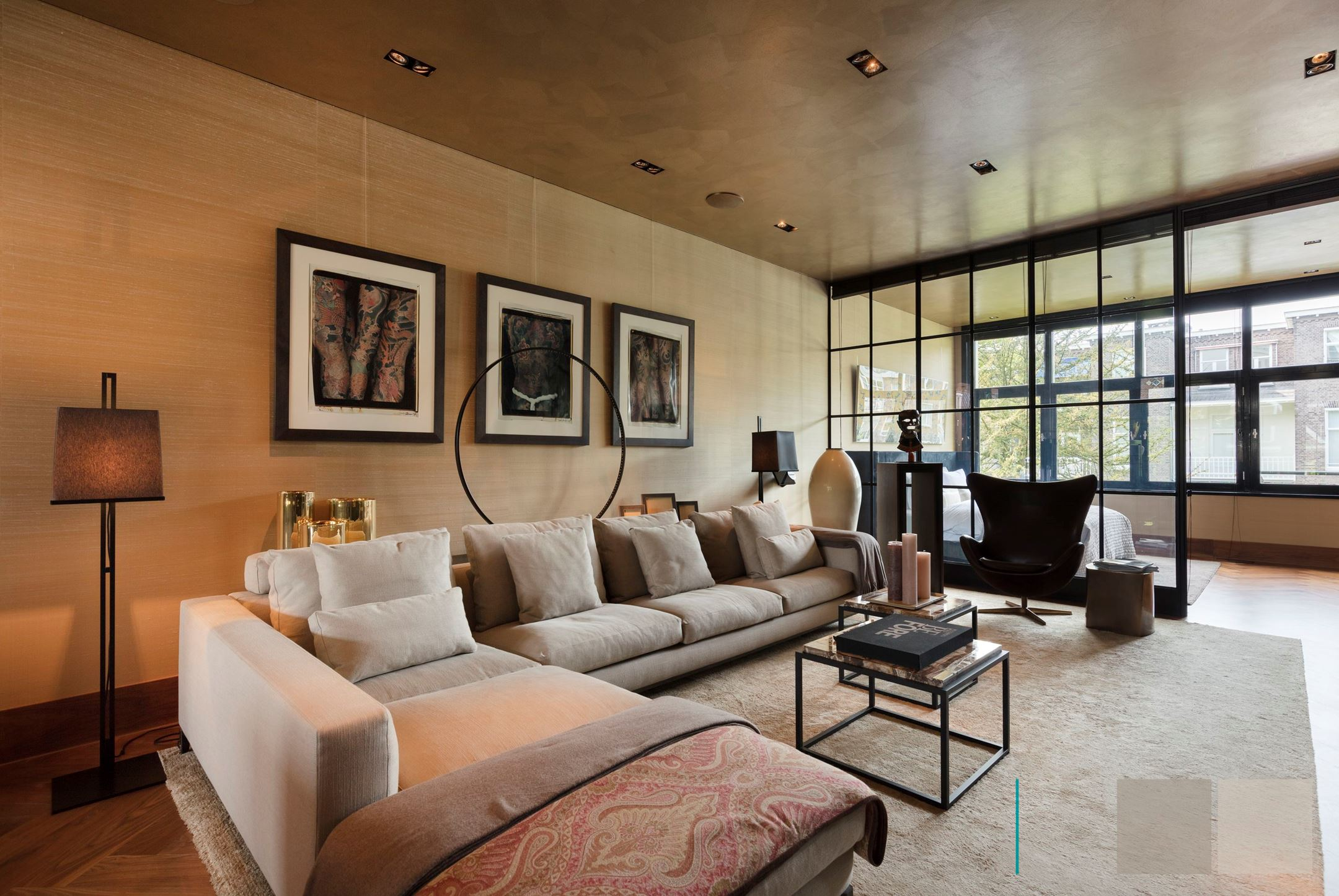 гостиная спальня диван перегородка