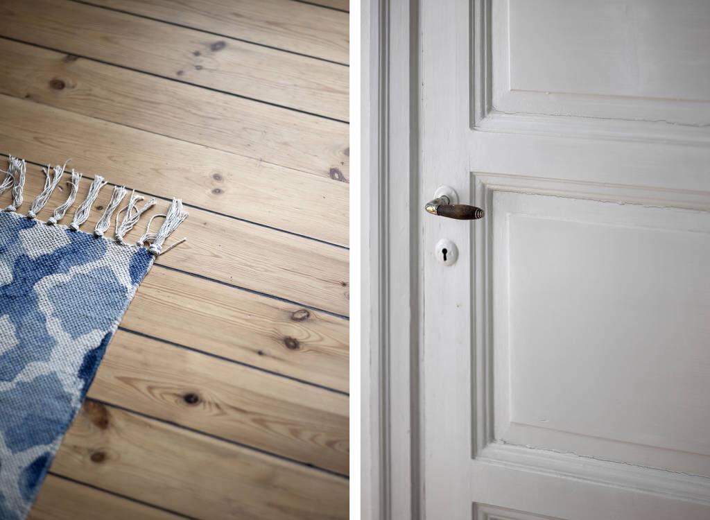 деревянный пол дверь