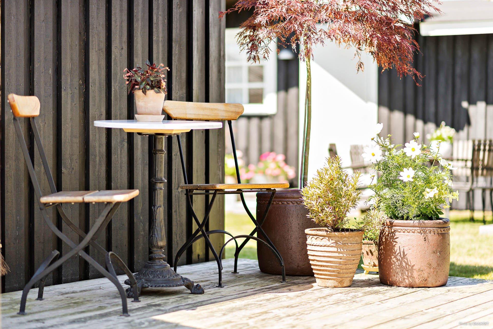 уличная мебель кашпо растения