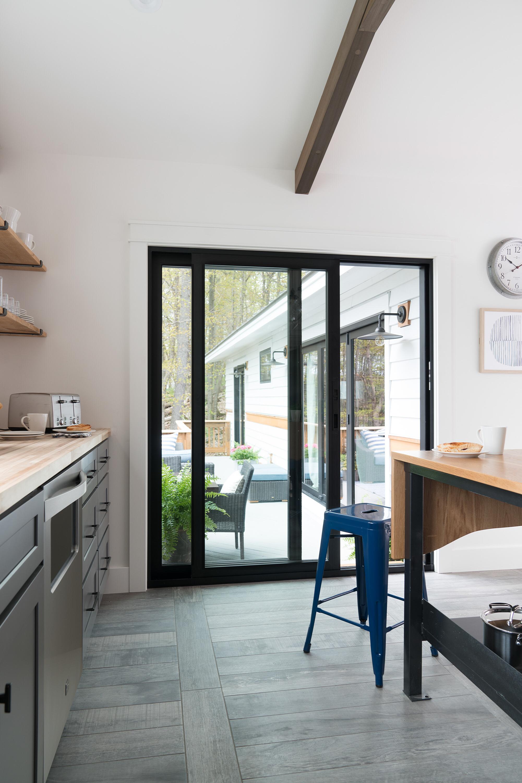 кухня выход на террасу