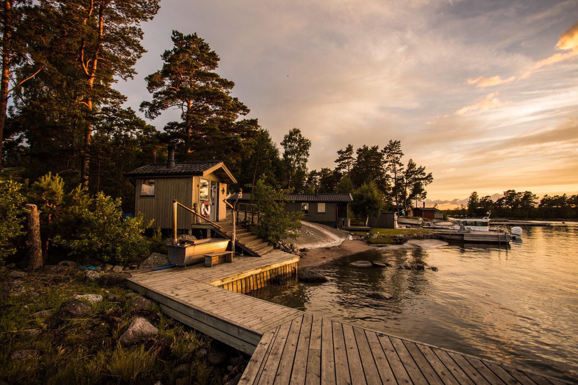 дом у воды деревянный настил