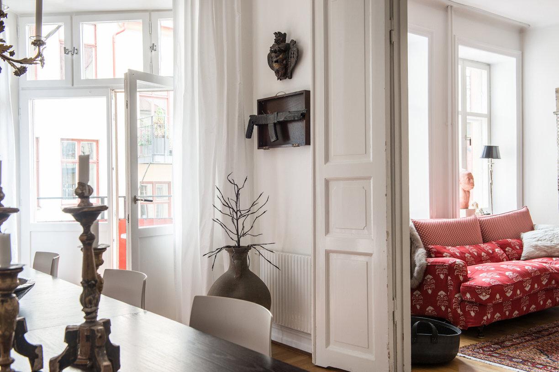 столовая выход на балкон двери наполная ваза
