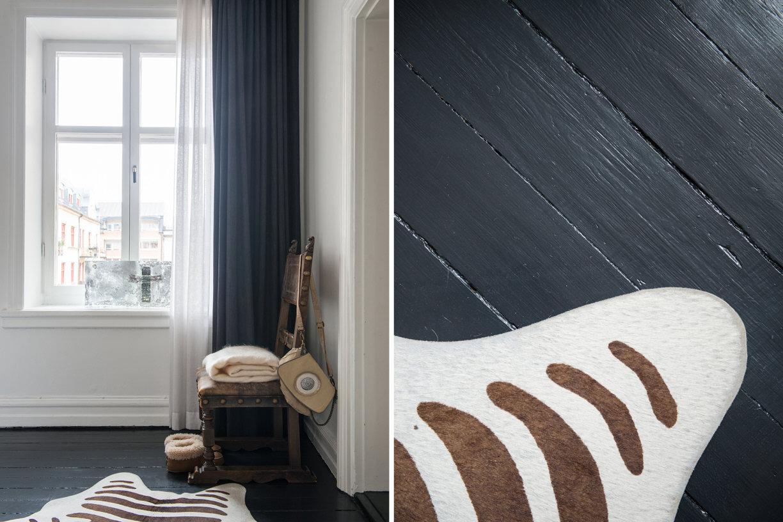 спальня деревянный пол шкура стул