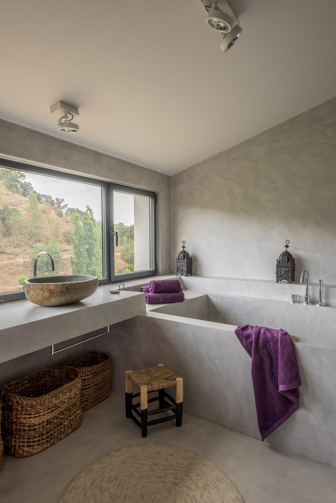 ванная комната бетон