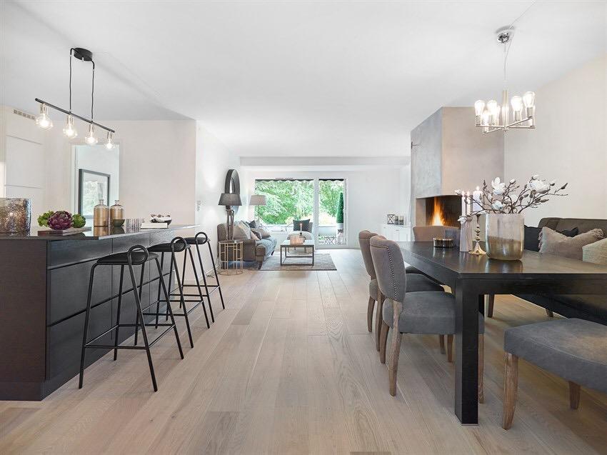 кухонный остров стулья столовая гостиная