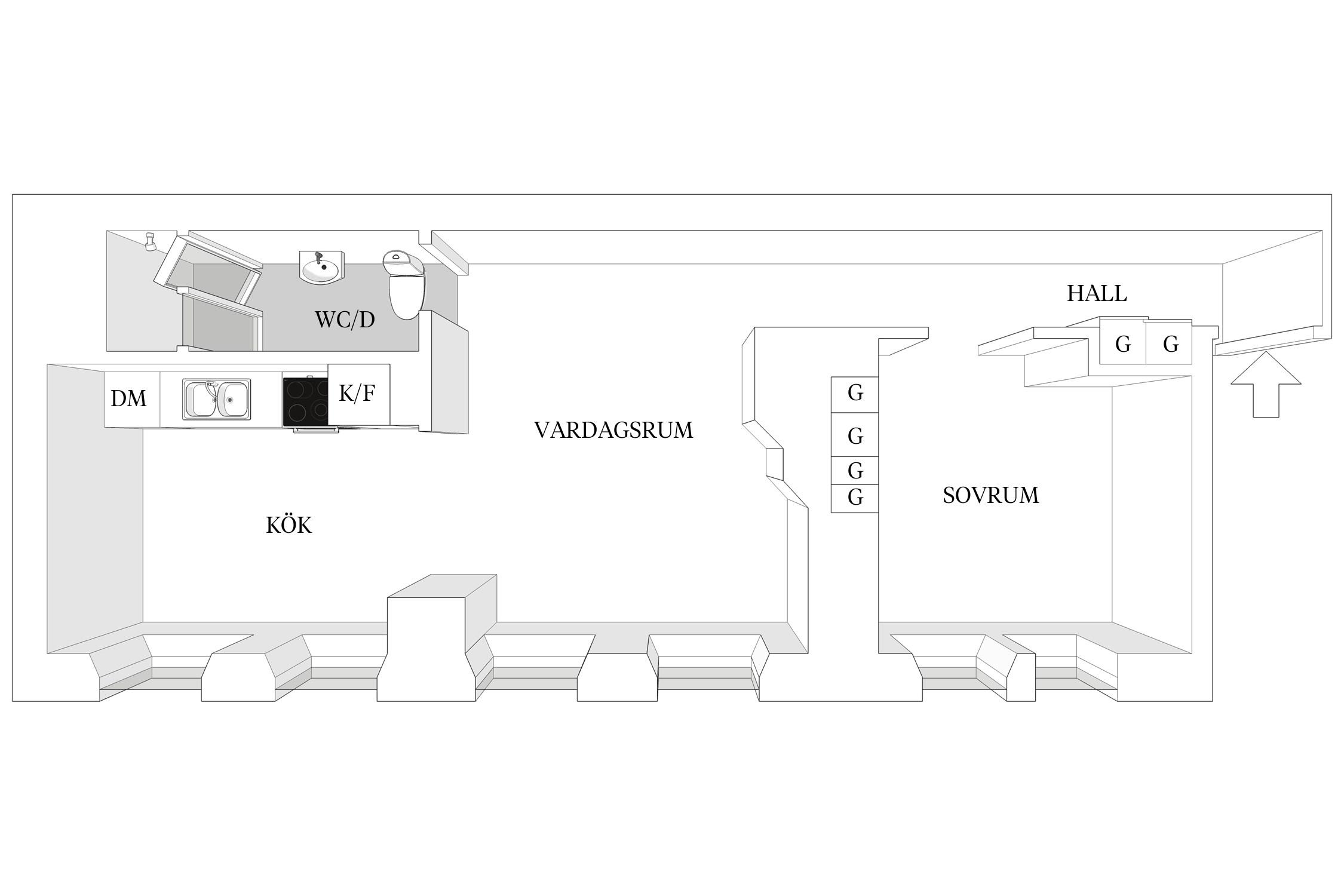 планировка квартиры мансарда