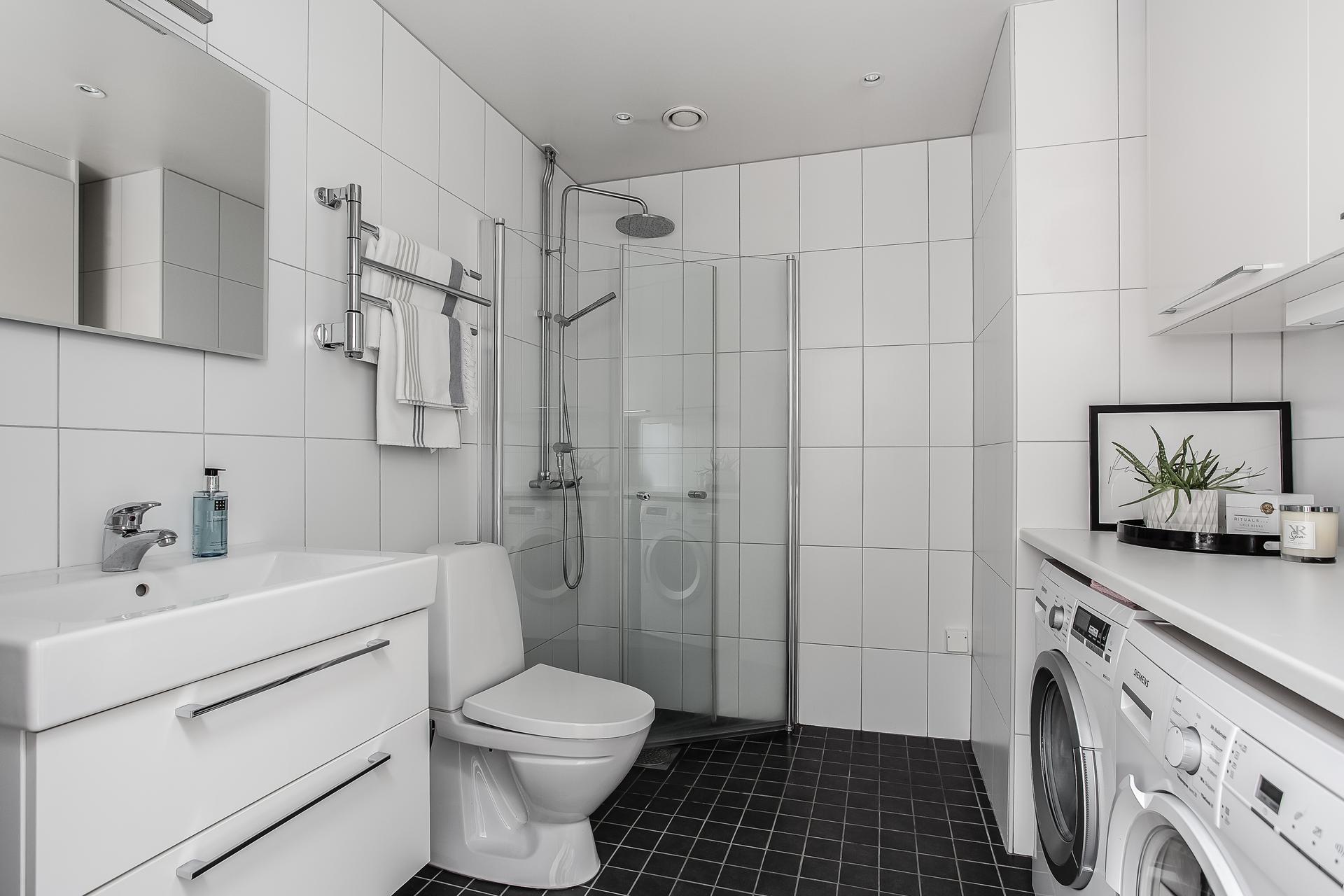 санузел душ раковина зеркало стиральная сушильная машина шкаф