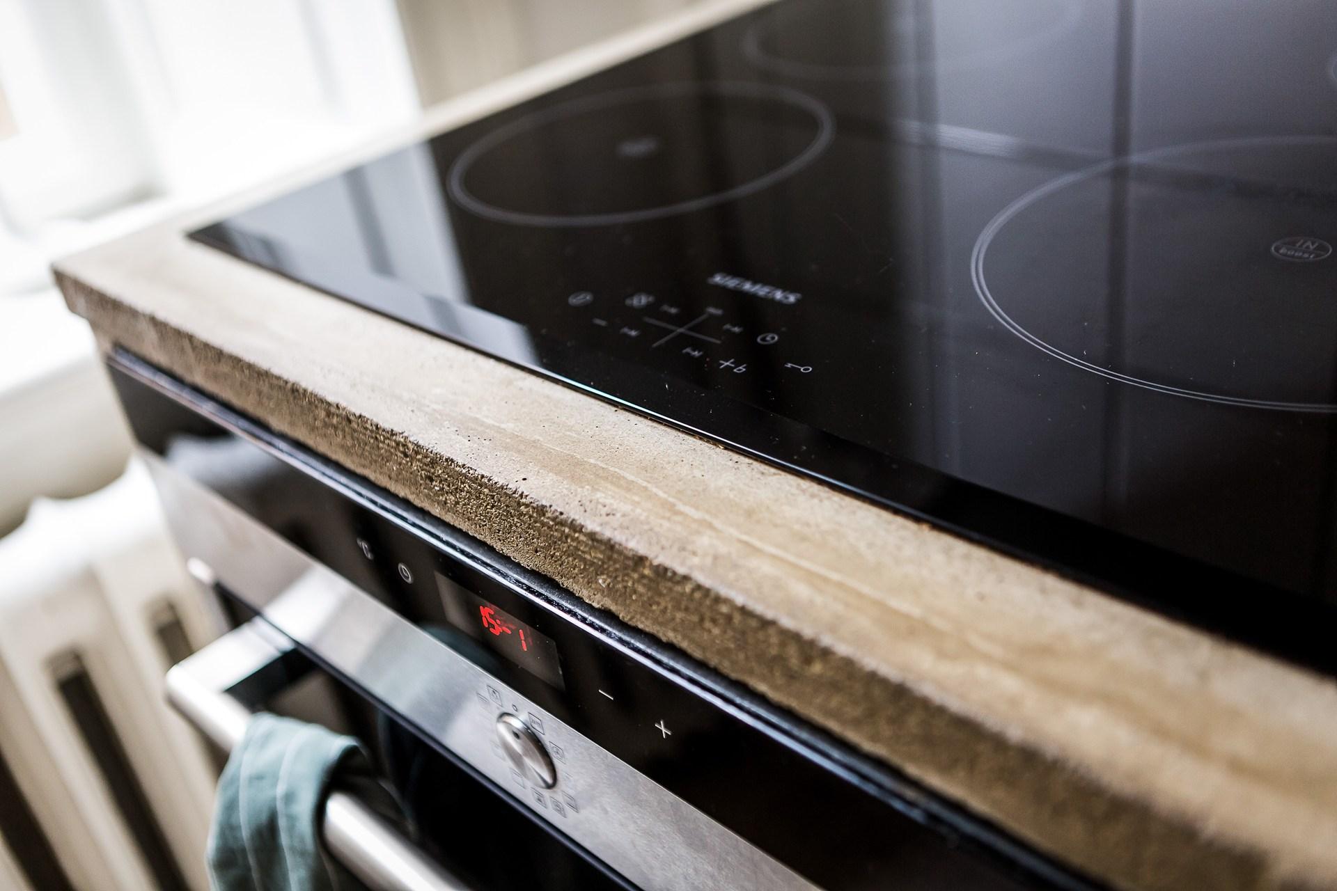 кухня столешница бетон плита