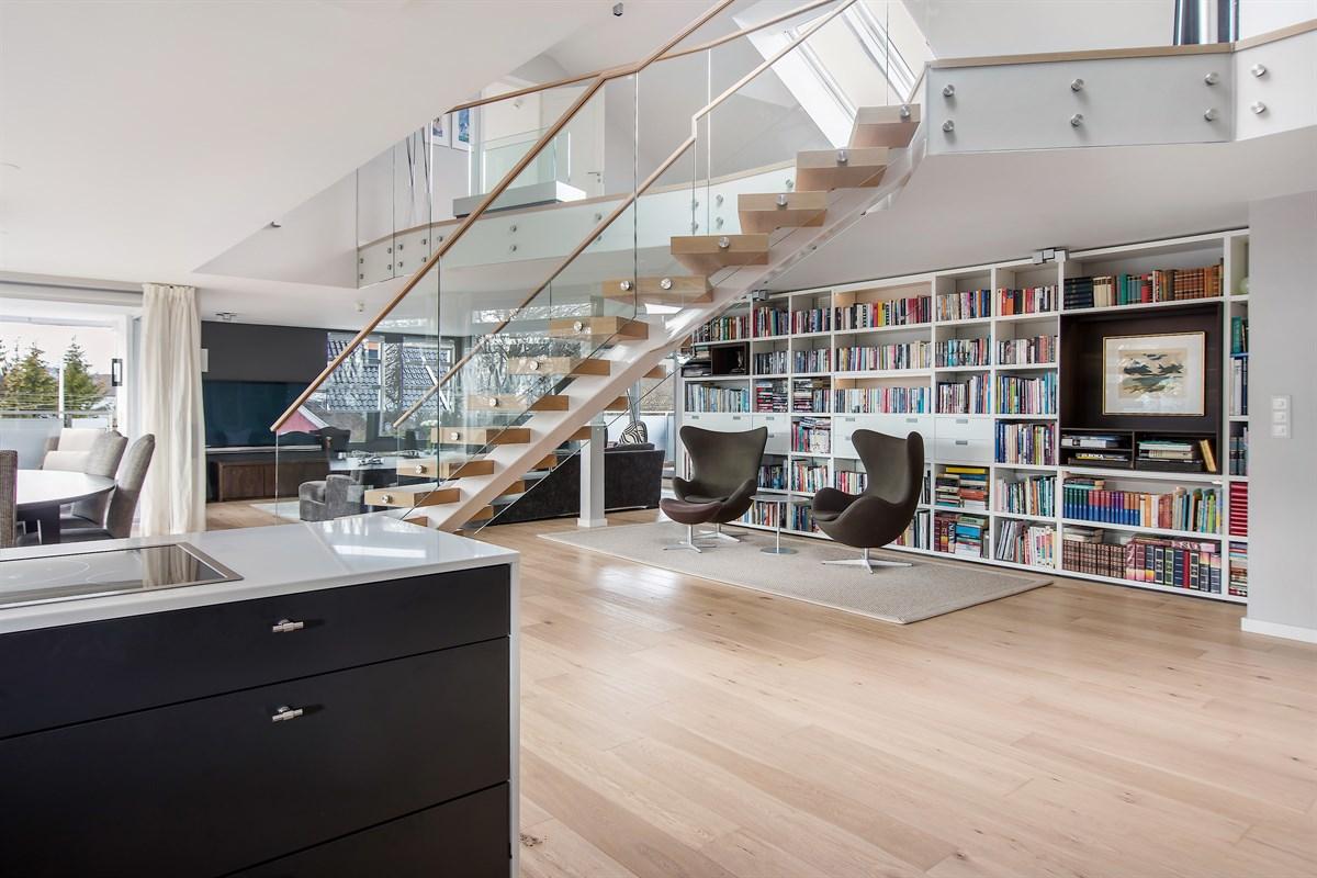 лестница стеллаж книги