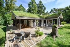 деревянный дом терраса зеленая кровля