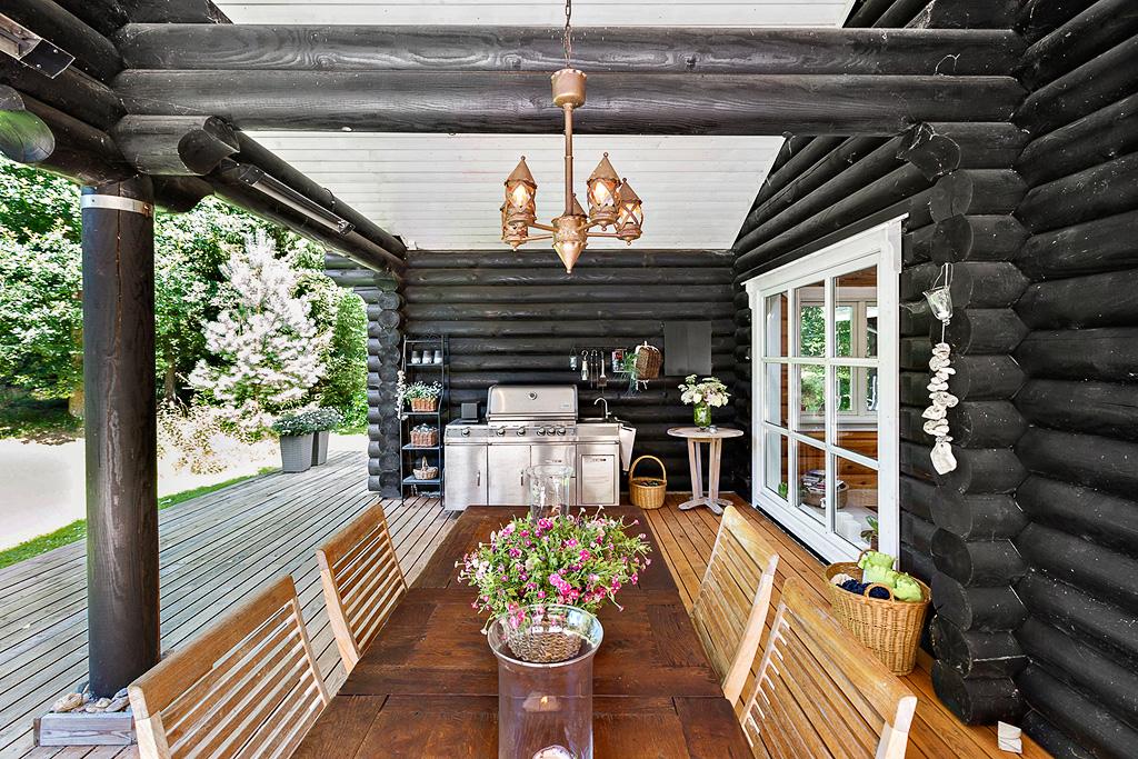 деревянный дом веранда гриль уличная мебель