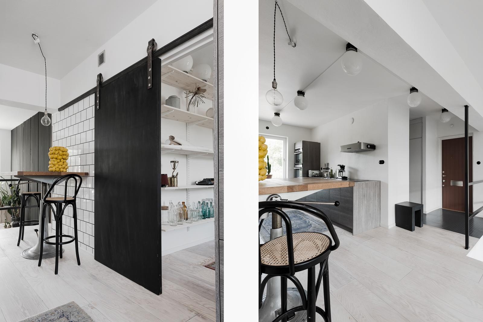 кухня подвесная раздвижная дверь