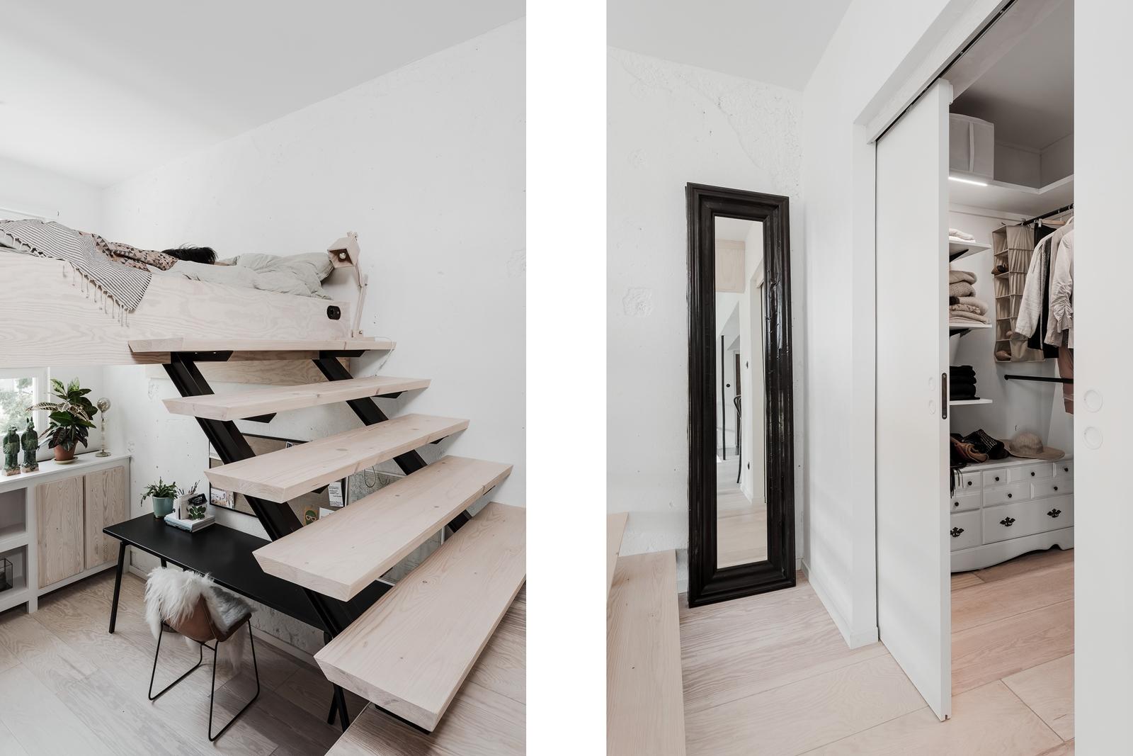 лестница антресоли кровать раздвижная дверь гардеробная