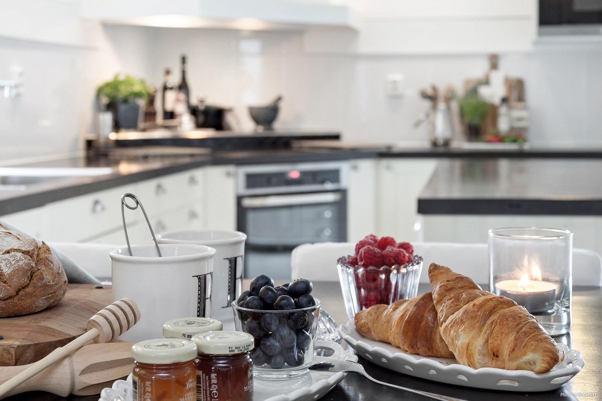 кухня завтрак сервировка