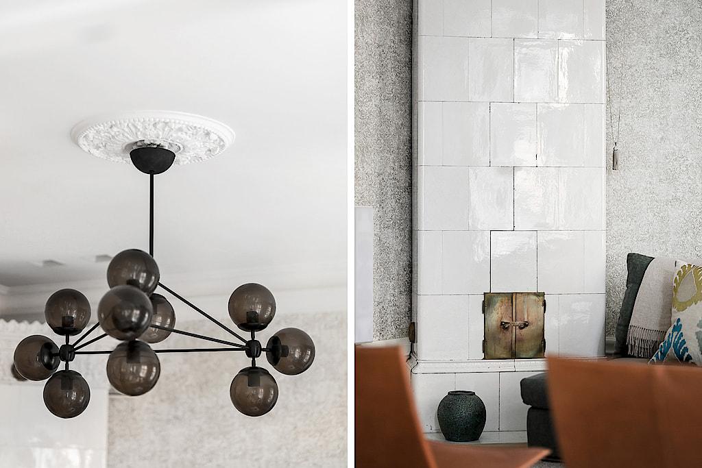 скандинавская печь потолочная розетка лампа bubble