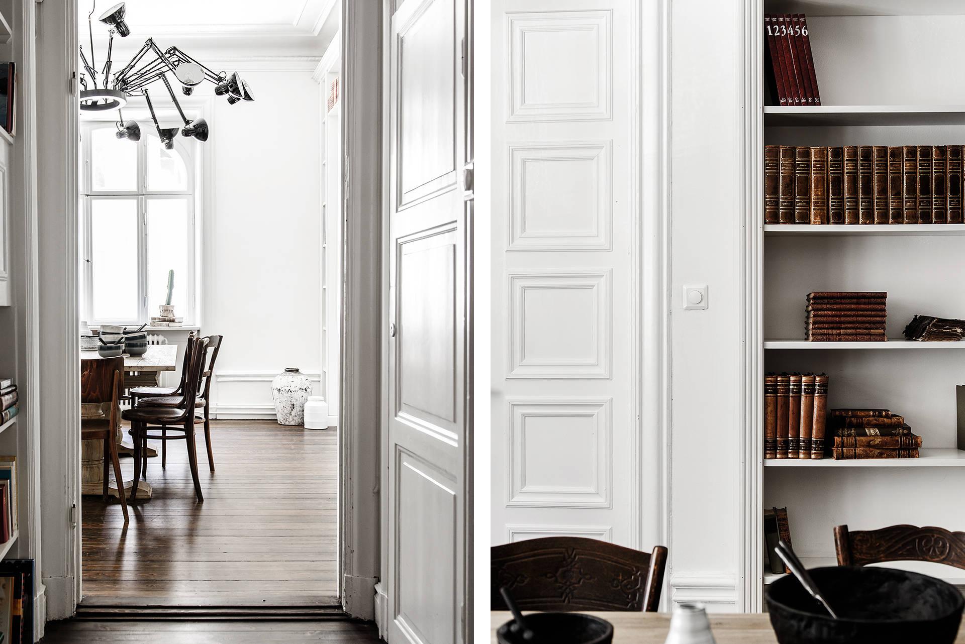 белые стены молдинги двери