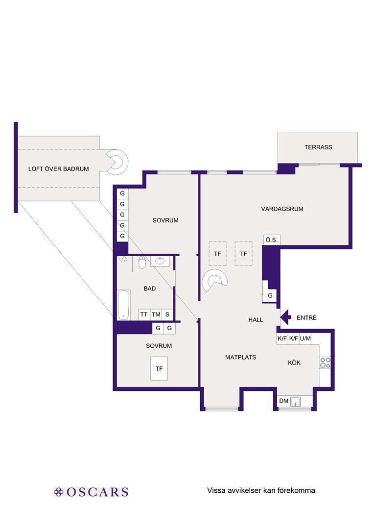 планировка двухуровневой квартиры мансарды