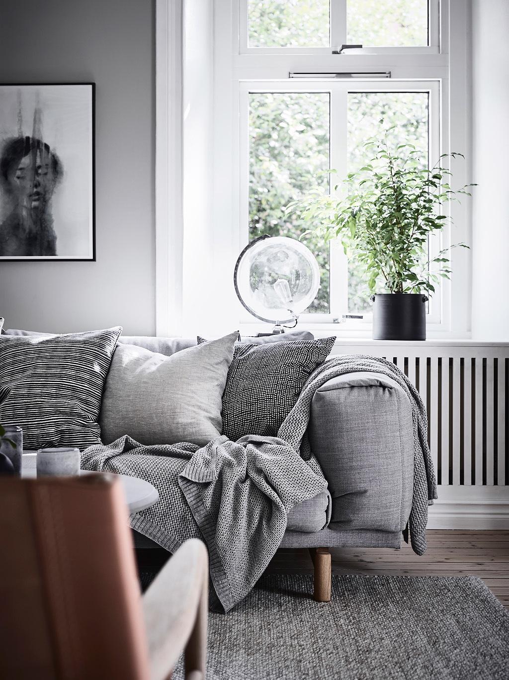 диван окно подоконник цветок эсмеситель радиатора отопления