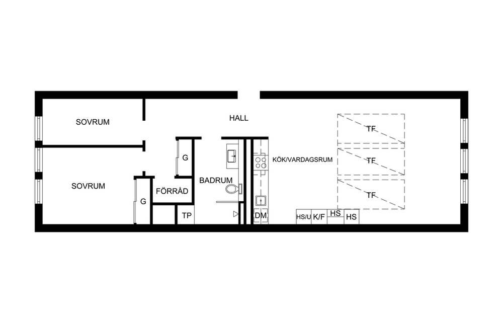 планировка квартиры с верхним светом