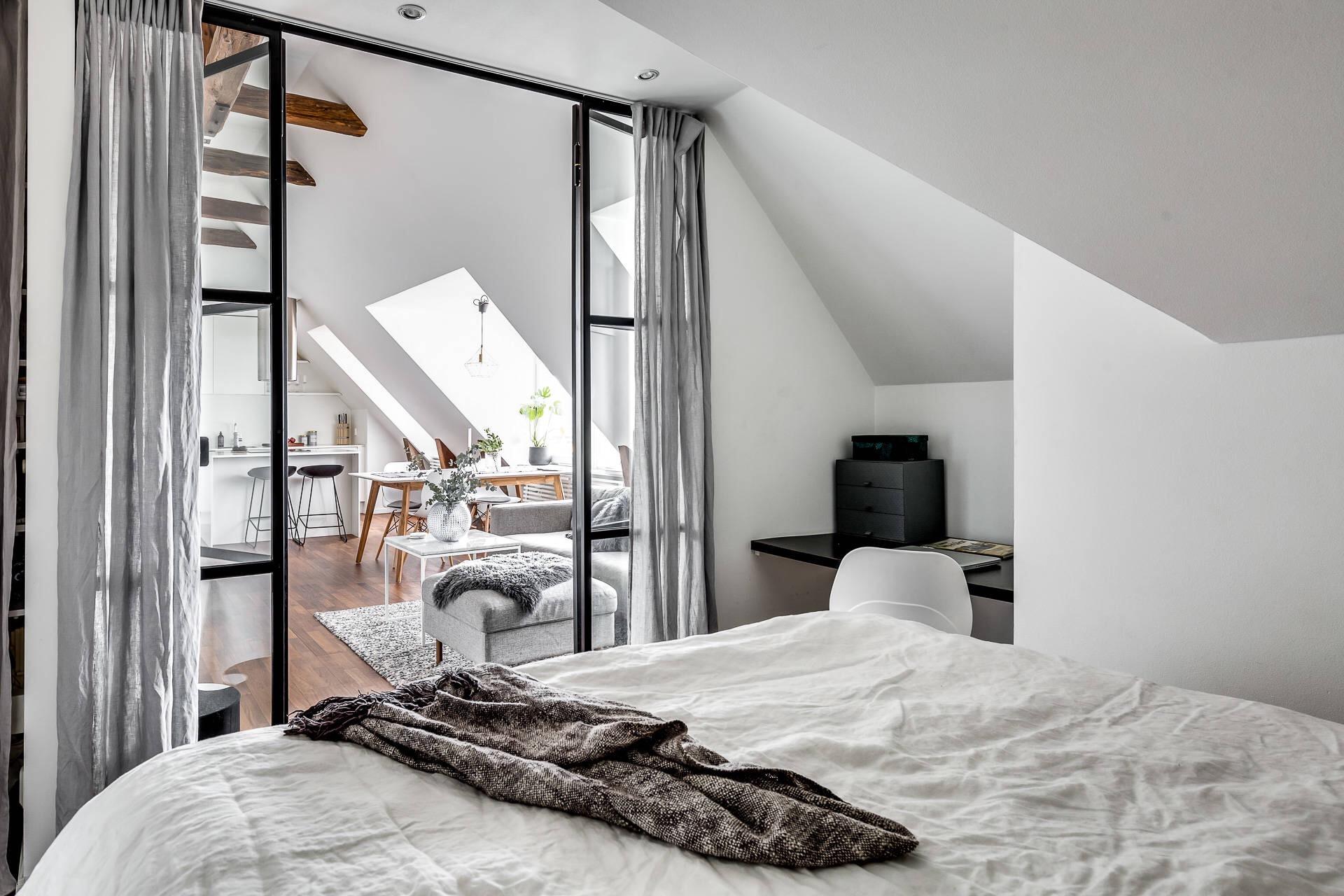 спальня перегородка гостиная кухня