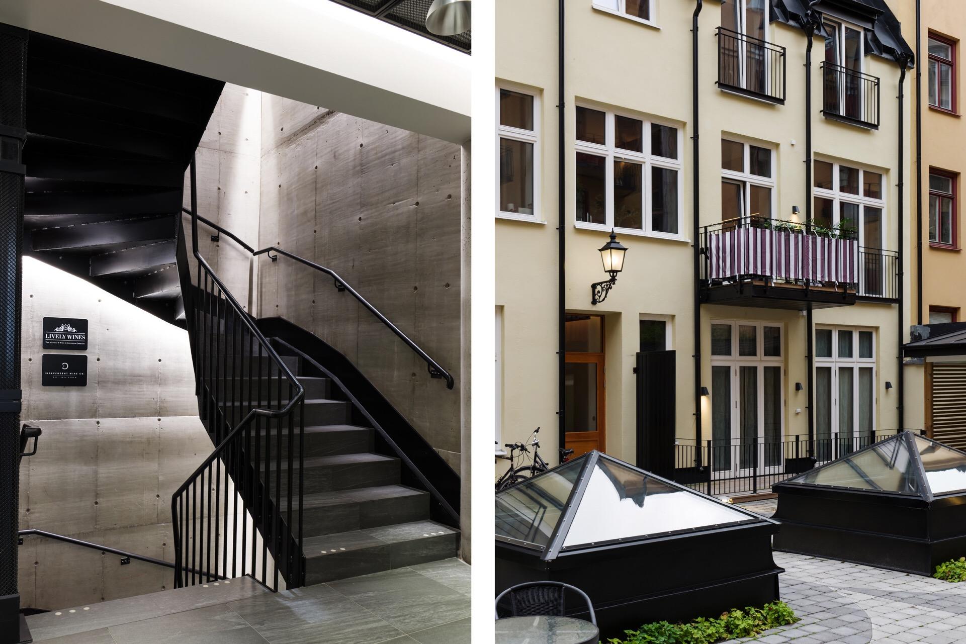 подъезд лестница перила ступени фасад городского дома